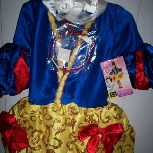 Snow White couture costume 4-6x + wig girl